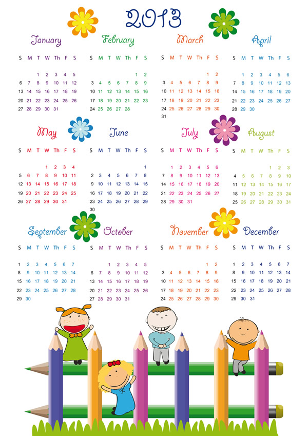 ai format download calendar grid 2013 4 853