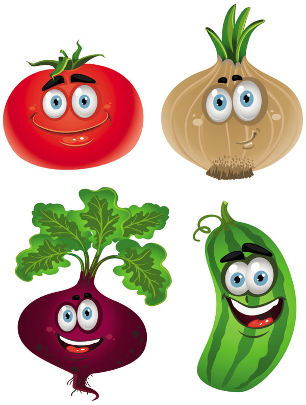 Cartoon Vegetables 5