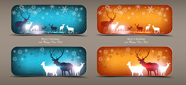 ELK Merry Christmas and Happy New Year Invitation 2