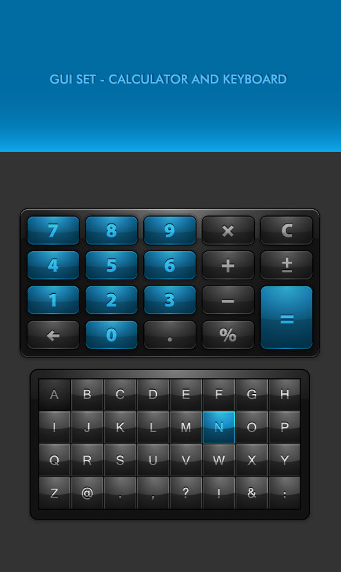 GUI SET - Calculator And Keyboard