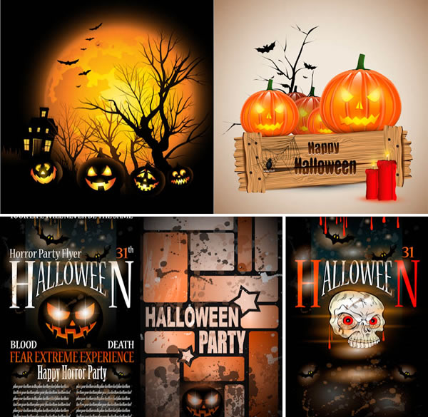 Halloween Party Poster Templates