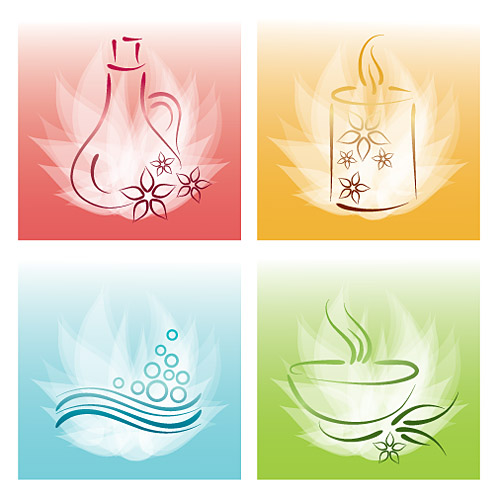 Incense candles essential oils SPA elements