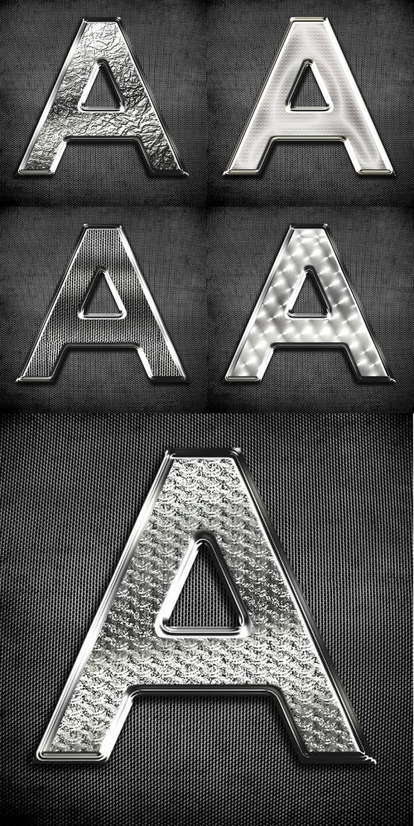 Metal Texture Letters