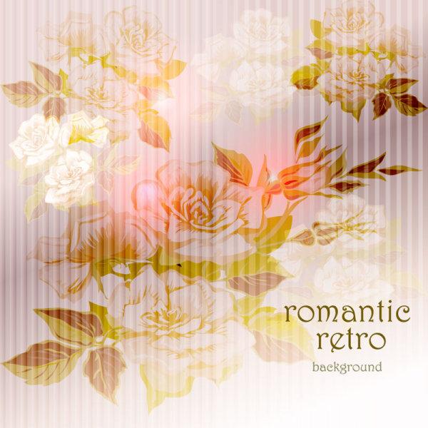 Romantic Retro Background