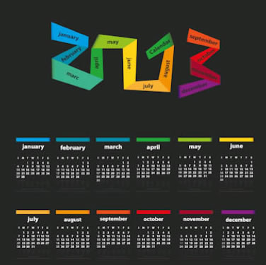 Stylish 2013 Calendar 2
