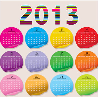 Stylish 2013 Calendar