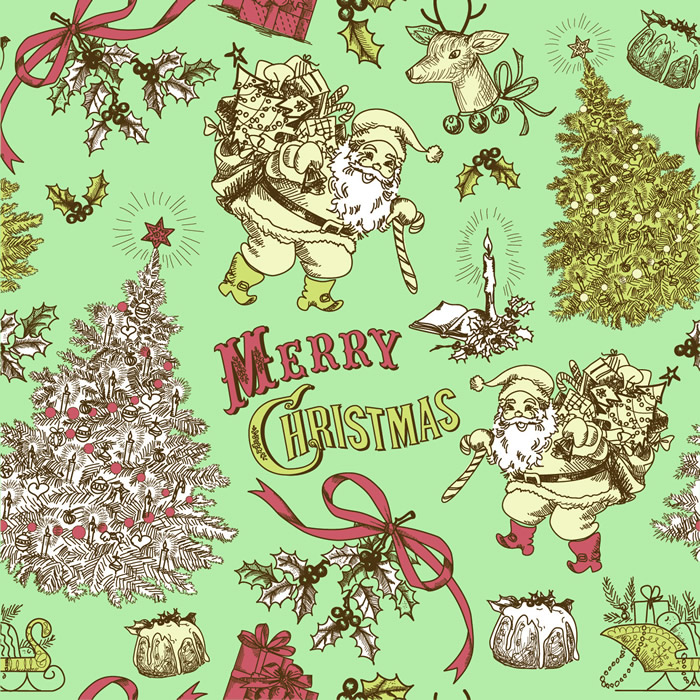 Vintage Style Christmas Cards 4. Vintage Style Christmas Cards 4 Vector Free  Download