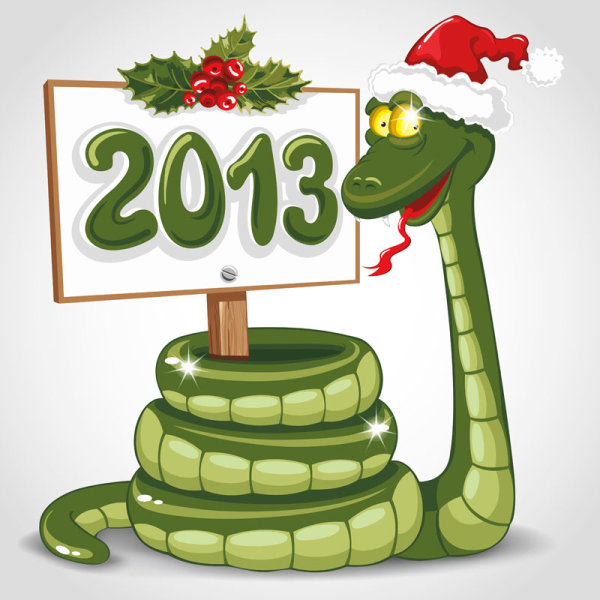 2013 Year Snake Greeting Card 4