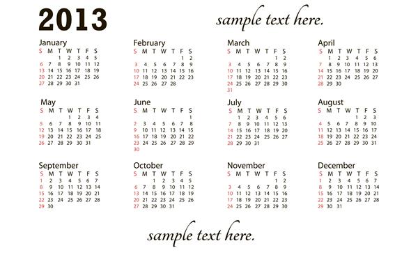 Calendar Grid 2013 10