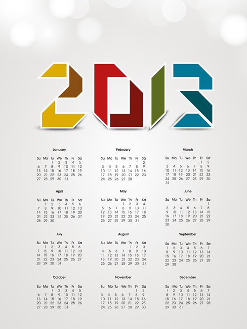 Calendar Grid 2013 100