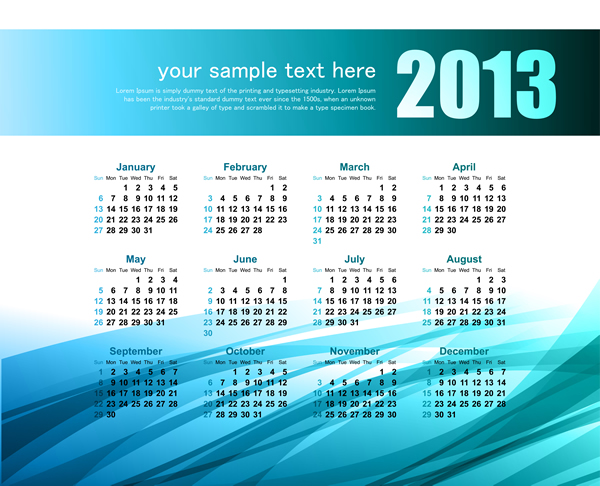 Calendar Grid 2013 11