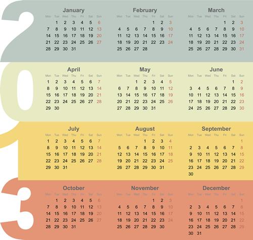 Calendar Grid 2013 111