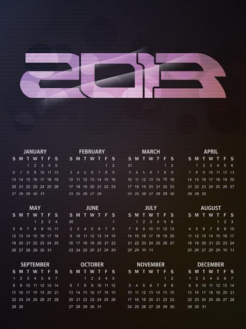 Calendar Grid 2013 120