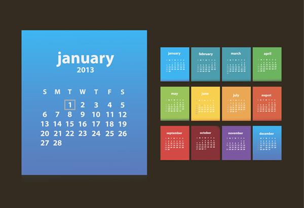 Calendar Grid 2013 15