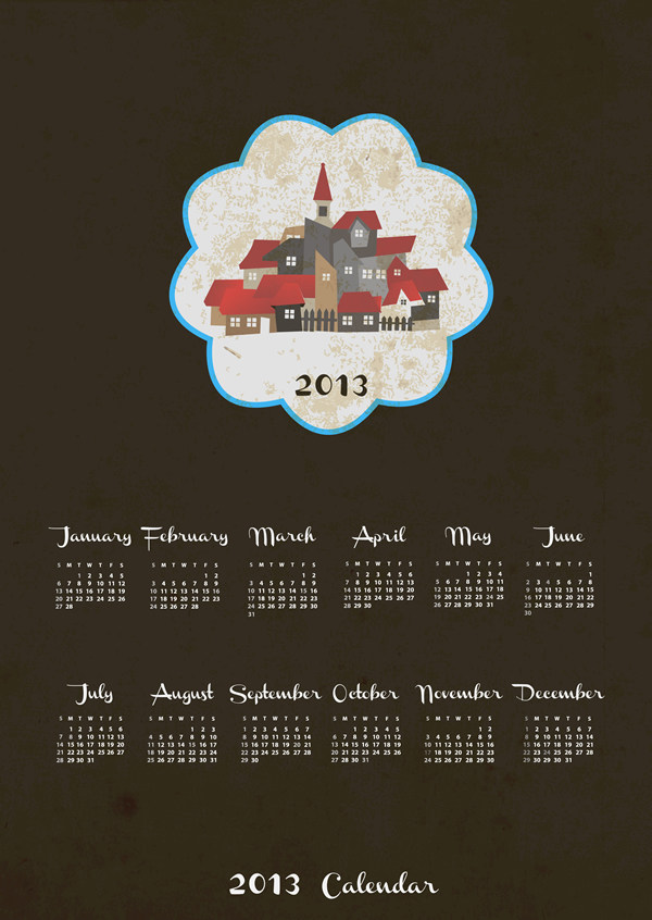 Calendar Grid 2013 18