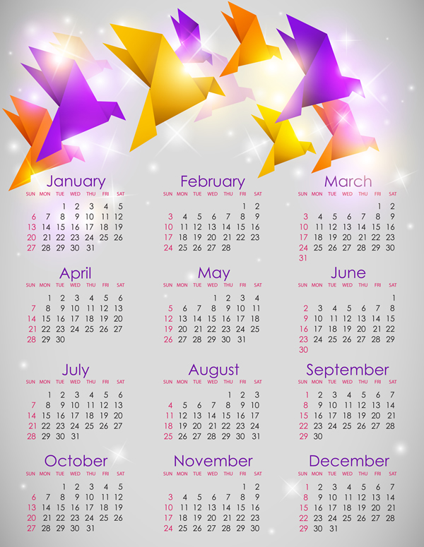 Calendar Grid 2013 25