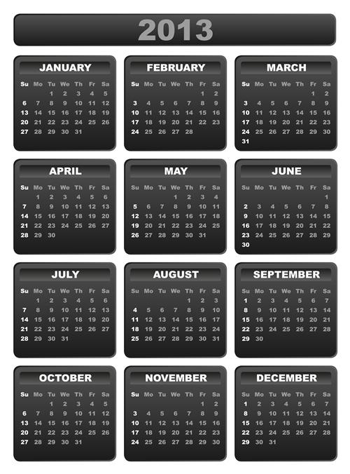 Calendar Grid 2013 29