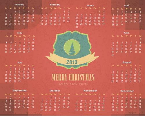 Calendar Grid 2013 50