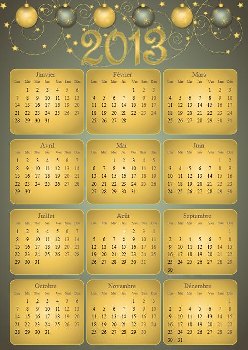 Calendar Grid 2013 53