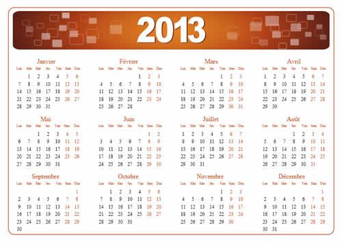 Calendar Grid 2013 55