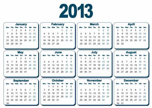 Calendar Grid 2013 57