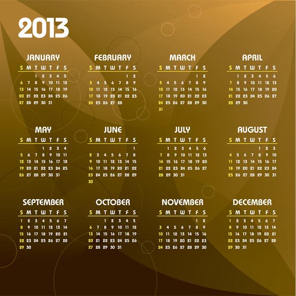 Calendar Grid 2013 6