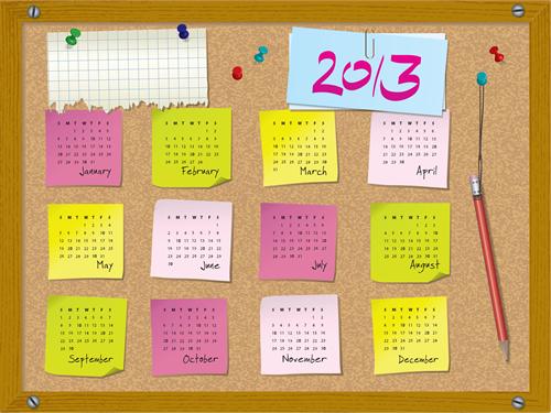 Calendar Grid 2013 61