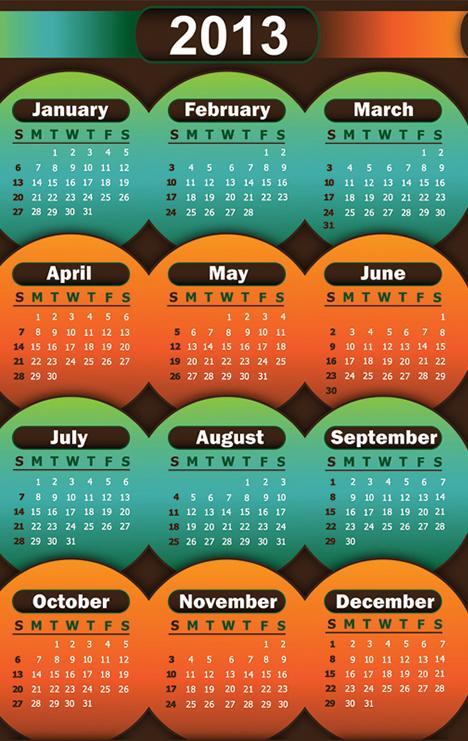 Calendar Grid 2013 66