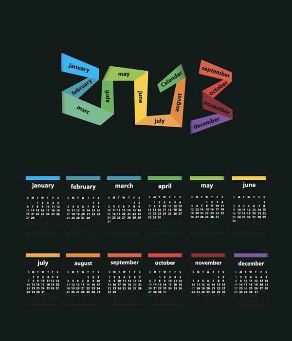 Calendar Grid 2013 7