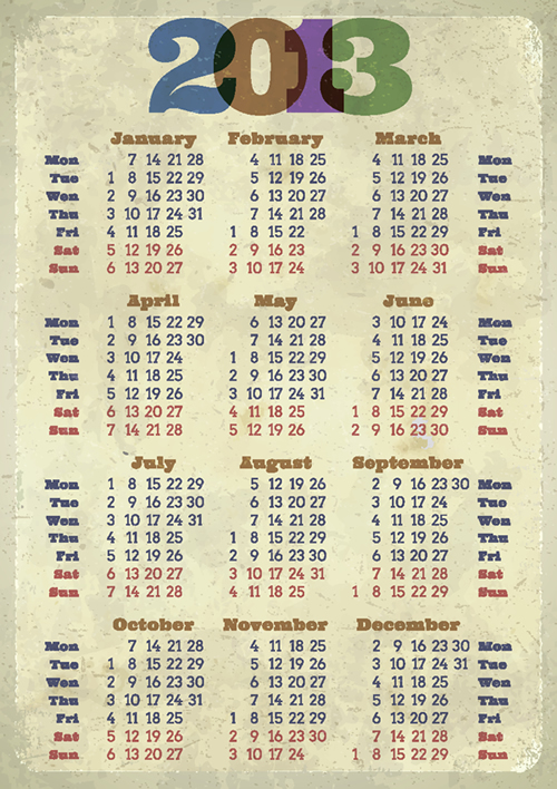 Calendar Grid 2013 71