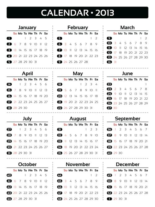 Calendar Grid 2013 72