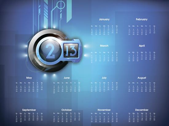 Calendar Grid 2013 76