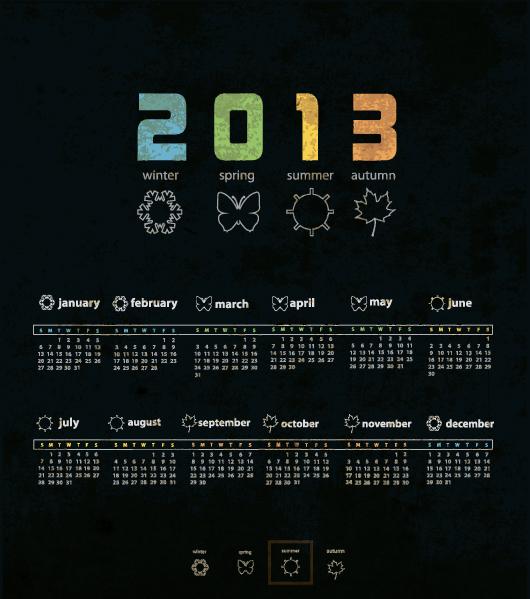 Calendar Grid 2013 79