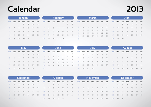 Calendar Grid 2013 8