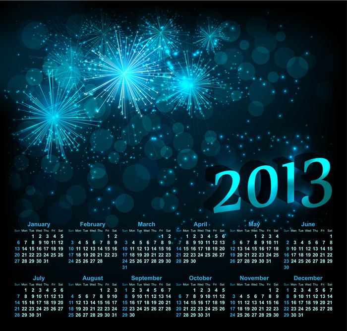 Calendar Grid 2013 9
