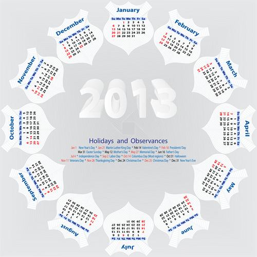 Calendar Grid 2013 96