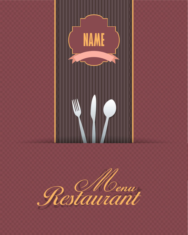 Commonly restaurant menu cover template vector set 21 free download.