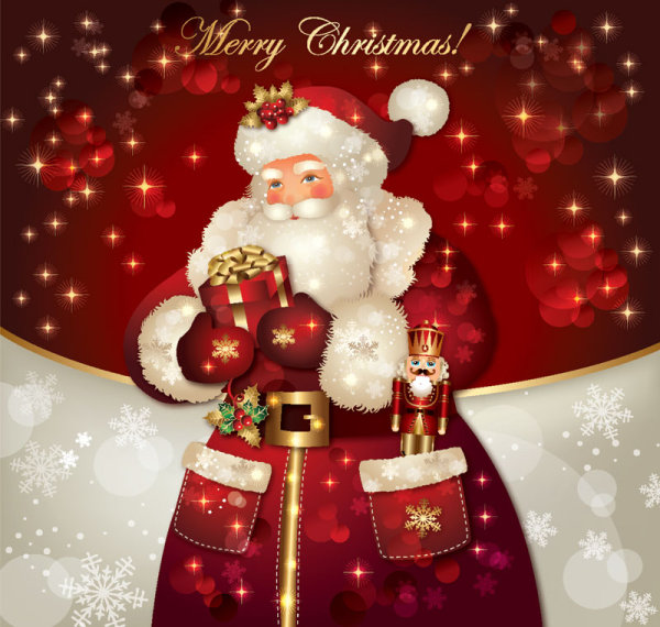 Santa claus greeting cards 9 free vector graphic download