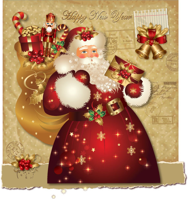santa claus greeting cards - Santa Claus Christmas Cards