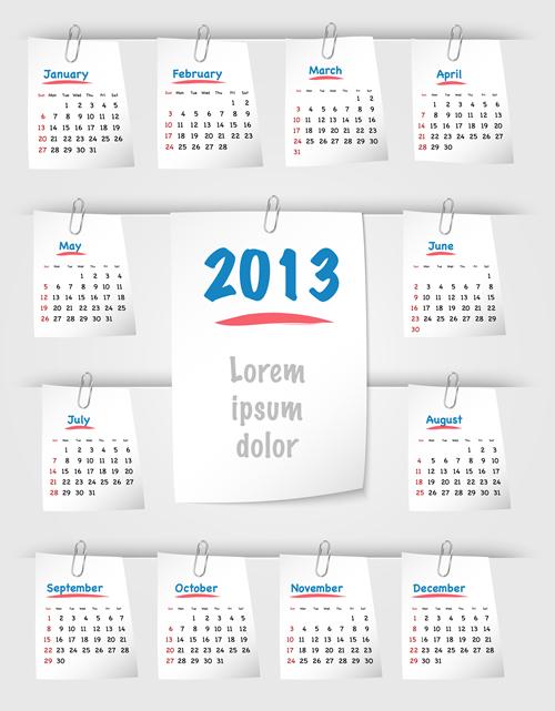 Calendar Grid 2013 123