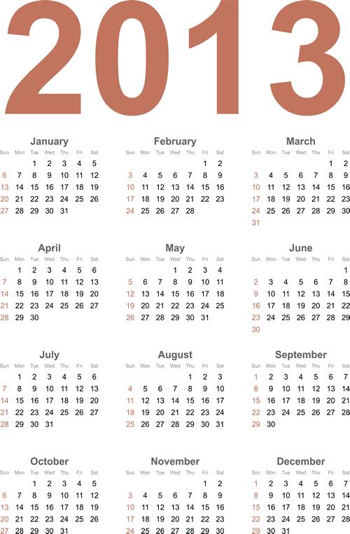 Calendar Grid 2013 125