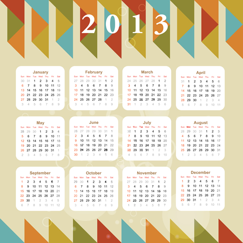 Calendar Grid 2013 144