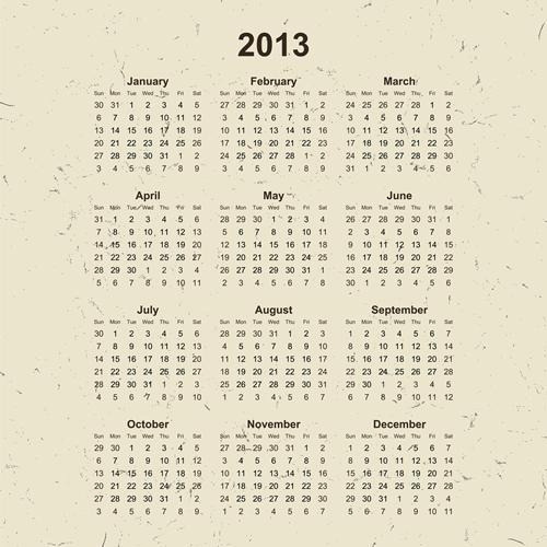 Calendar Grid 2013 145