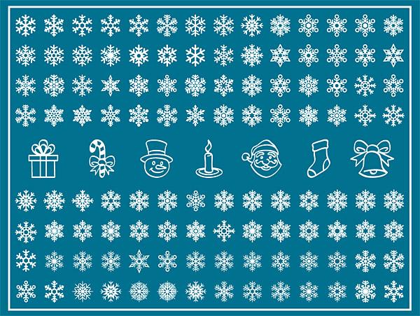 Cartoon Snowflake Pattern