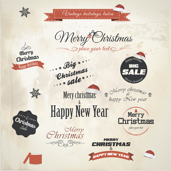 Christmas Labels & Design Elements 10