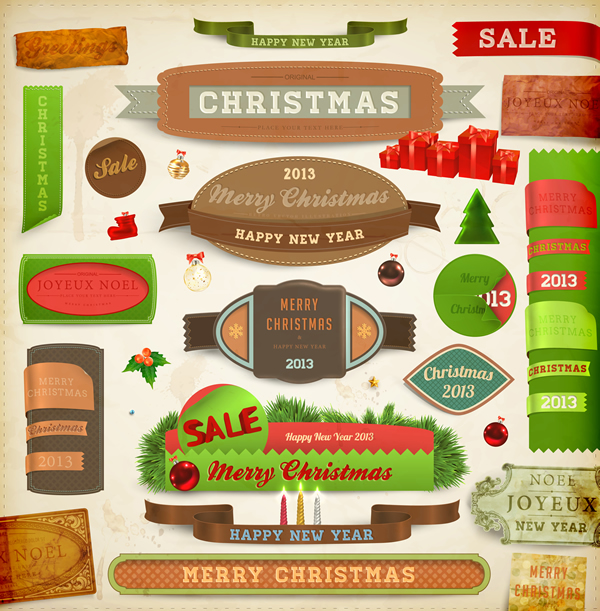 Christmas Labels & Design Elements 12