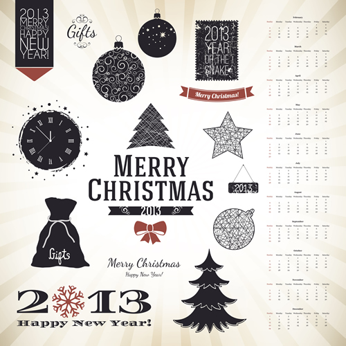 Christmas Labels & Design Elements 14