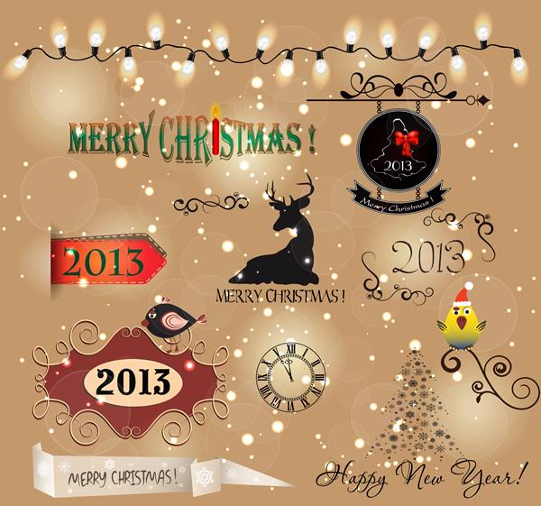 Christmas Labels & Design Elements 16