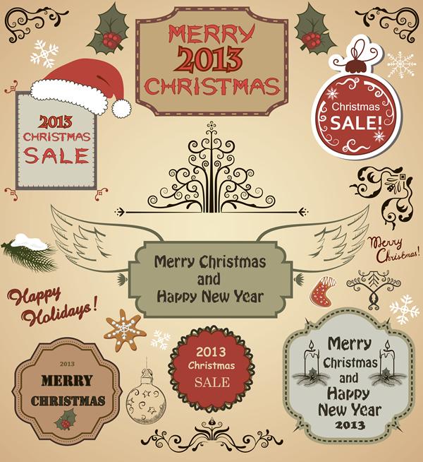 Christmas Labels & Design Elements 18