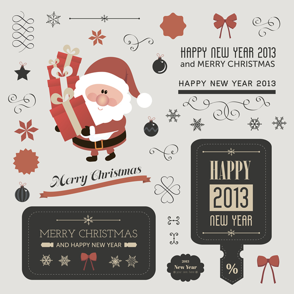 Christmas Labels & Design Elements 21